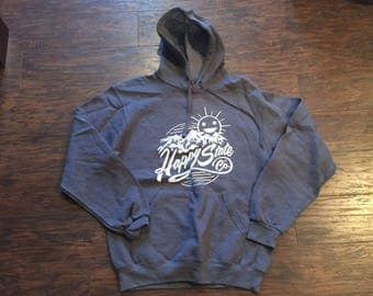 Happy State Co. mountain hoodie Charcoal