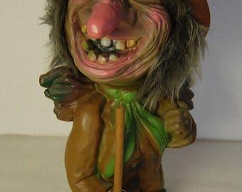 cute vintage Wurzelsepp Voodoo Joe bobble head nodder Troll Heico Germany