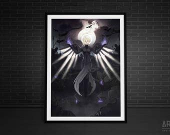 Heroes Never Die - Mercy Overwatch Print