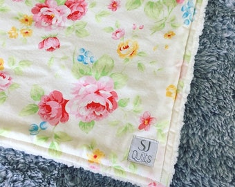 Floral Cuddle Security Blanket
