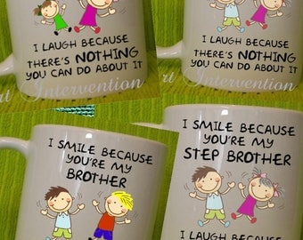 Funny brother and sister mugs