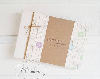 Guest book marriage {Romantic Kraft} brown and ivory