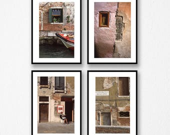 Venice Italy Windows and Doors, Color Prints