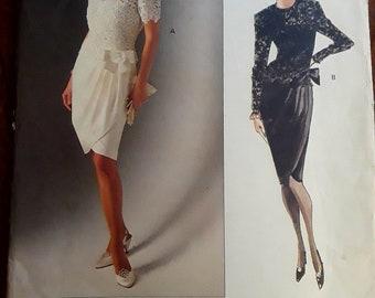VINTAGE VOGUE 2492 Albert Nipon Evening Dress (Sz 12-14-16)