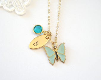 Dainty Butterfly Necklace, Gold Layering Necklace, Nature Inspired Jewelry, Simple Necklace, Gift for Her