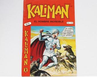 Kaliman El Hombre Increible No 104 El Faraon Sagrado Revista en Español Spanish Comic RARE