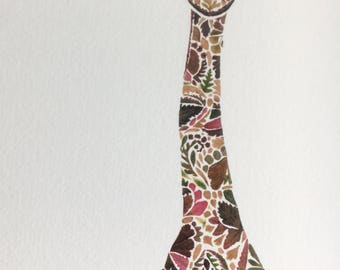 STUDIO SALE Giraffe print hand finished with 24k gold (listing 1)