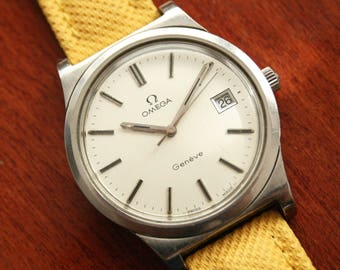 OMEGA - Vintage Oversize OMEGA Geneve Ø 36 mm - Ref. 136.0102 c.1972 - Cal. 1010 - Mens Wirstwatch - Watch