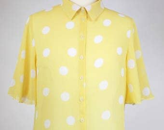 """Sheer blouse """"Banana Split"""" by Solange Maritte"""