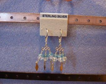 Aquamarine & Apatite Dangle Earrings