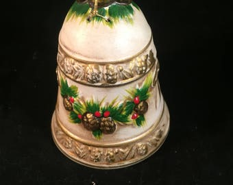 Vintage Napcoware Christmas Bell with Pine Cones X-8665