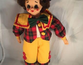 Vintage Brinn's 1988 Clown Doll