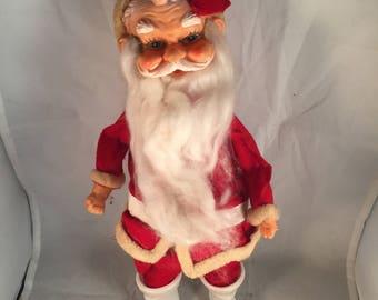 Vintage Stuffed Santa Claus Christmas Decoration