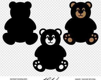 Teddy Bear Digital Cut Files - Digital Files - Teddy Bear SVG - Teddy Bear DXF - Bear EPS - Teddy Bear png - Vector - Teddy Bear Clipart