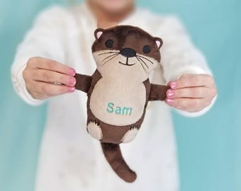 Otter Stuffed Animal, Plush Sea Otter for Kids Birthday, Easter Stuffed Animal, Nautical Nursery Decor, Ocean Baby Shower, Kawaii Otter