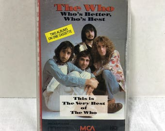 The Who Who's Better, Who's Best double length cassette tape 1988 Classic Rock