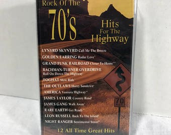 Rock Of The 70's Hits For The Highway cassette tape 1991 - Lynyrd Skynyrd, Foghat, Golden Earring, James Gang, Leon Russel, Rare Earth