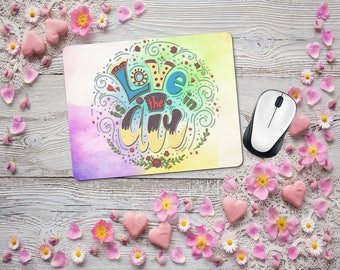 Artsy Fartsy Boho Mouse Pad, Office Desk Accessories, Custom Personalized Mousepad, Office Supplies, Computer Desk Mousepad, Gift for Her
