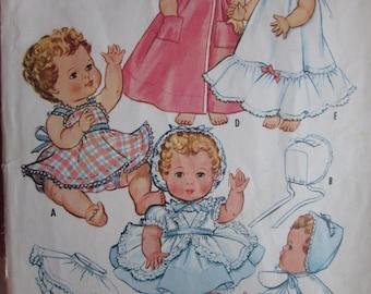 Vintage Baby Doll Wardrobe Pattern McCalls #2349 NOT A PDF COPY