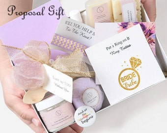 Bridesmaid proposal, Maid of honor proposal, Asking Bridesmaid gift, Bridesmaid proposal gift, Bridesmaid proposal spa gift, Proposal