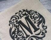 Monogram Linen Coasters - Set of 4