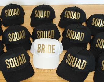 Bride Squad Hats For Bridal Party