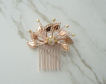 Rose Gold Hair Comb, Stellar Wedding, Accessories, Rosegold bridal, Mix Metal, Bridal Hair, Rosegold Wedding, Wedding Hair, Bridal Accessory
