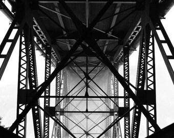 Deception pass bridge photo print
