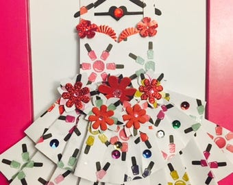 Nail Love Enchanted Paper Dress.