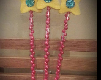 12 inch-Princess Peppa Pig candy wand, peppa pig candy favors, peppa pig wands, peppa pig party favors