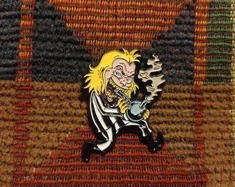 Funny Horror 1990's Cartoon 420 Smoking 90's Enamel Lapel Hat Pin