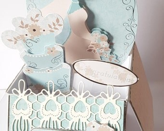 Personalised Handcrafted 3D Pop-Up Wedding  Card