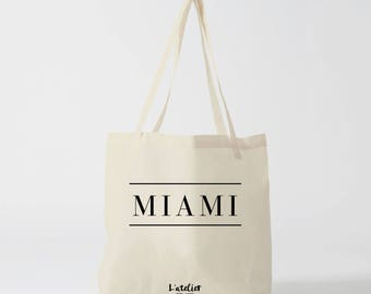 X480Y tote bag Miami tote bag city, miami city, cotton tote bag, bag, shopping bag, bag and tote bag, bags and luggage, tote bag cotton
