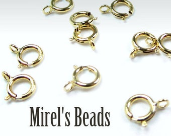 5pcs Gold-Filled Spring Ring Clasp, 5.5mm