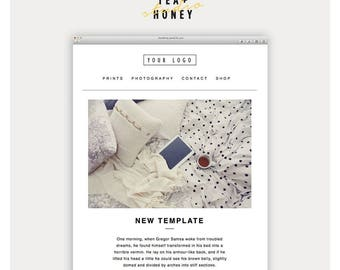 Email Newsletter Template, Mailchimp Customizable Template, Responsive HTML email, Photography Email, Email Newsletter, Instant download