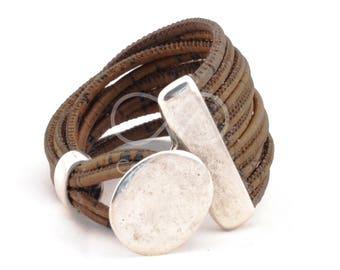 vegan gift, boho bracelet, vegan bracelet, multistrand bracelet Uno de 50 style, cork bracelet cork jewelry eco friendly jewelry women gifts