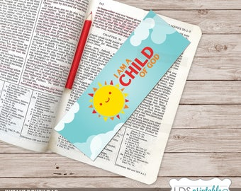 I am a Child of God printable Bookmark 2018 LDS Primary Theme