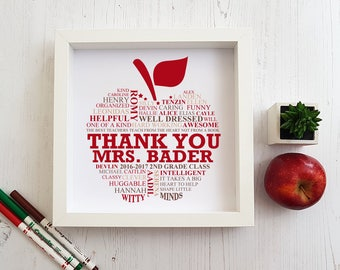 TEACHER APPRECIATION GIFT - teacher gift, teacher thank you gift, gift for teacher, teacher gifts, teacher gift ideas, retirement gift