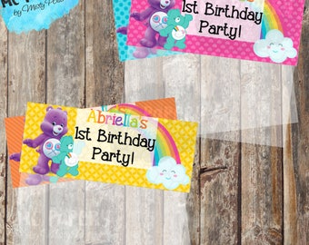Printable Care Bears Birthday Treat Bag Toppers - YOU PRINT