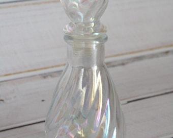 Iridescent Perfume Swirl Bottle