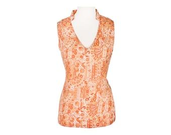 Silk Blouse, Silk Top, Vintage Silk Comfort, Unique Shirt, Silk Shirt: Handmade, Vintage, One of a Kind, Flowy, Wearable Art Blouse
