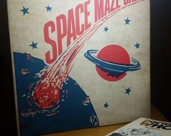 Vintage 1960 Space Maze Game - Drueke Space Tilt Game in Original Box - Vintage Toy