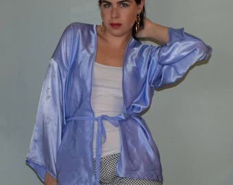 Lavender Silk Kimono Robe