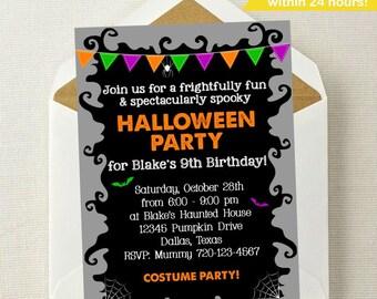 Halloween Invitation // Halloween Birthday Invitation // Halloween Party // Monster Mash // Fall Birthday // Costume Party // Halloween