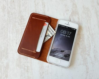 iPhone 5S wallet case, iPhone SE wallet case, iPhone SE leather case, iPhone 5 s leather case, iPhone SE case, iPhone 5 s case