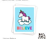Cute Unicorn Believe Insp...