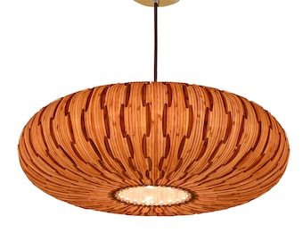 5% OFF SALES!! Pendant Light,Umbrella Pendant Lamp,made of natural bamboo veneer, a great lighting for dining room and bedroom,ceiling lamp