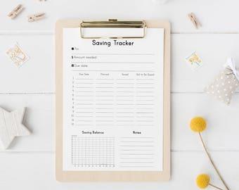 Saving Tracker and Debt Payment A4 Snowball Debt, Debt Payoff, Finance Binder, Snowball Printable, Finance Organizer Family Budget Inserts
