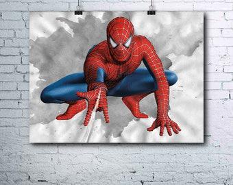 Spiderman Wall Art spiderman poster | etsy