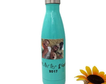 Gift for Mother, Teal Bottles, Bridesmaid Water Bottle, Personalized Water Bottle, Custom Bottle, Bridesmaid Gift, Wedding Thank You Gift